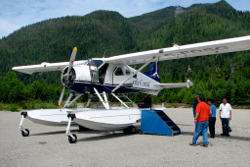Picture of a Dehavilland Beaver Float Plane.